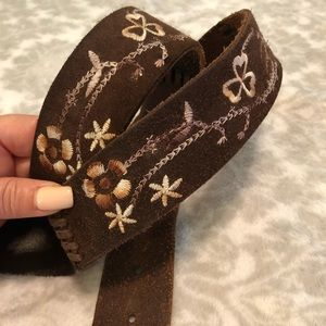 Old Navy Embroidered Floral Leather Belt